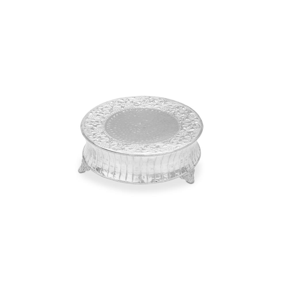 14-5-round-silver-cake-stand-fluted