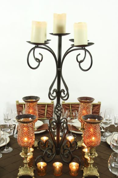 Baker party rentals branch wrought iron candelabra