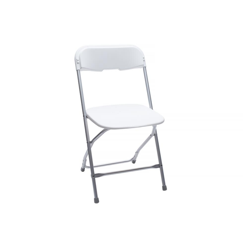 Baker Party Rentals White Plastic Folding Chair Rentals