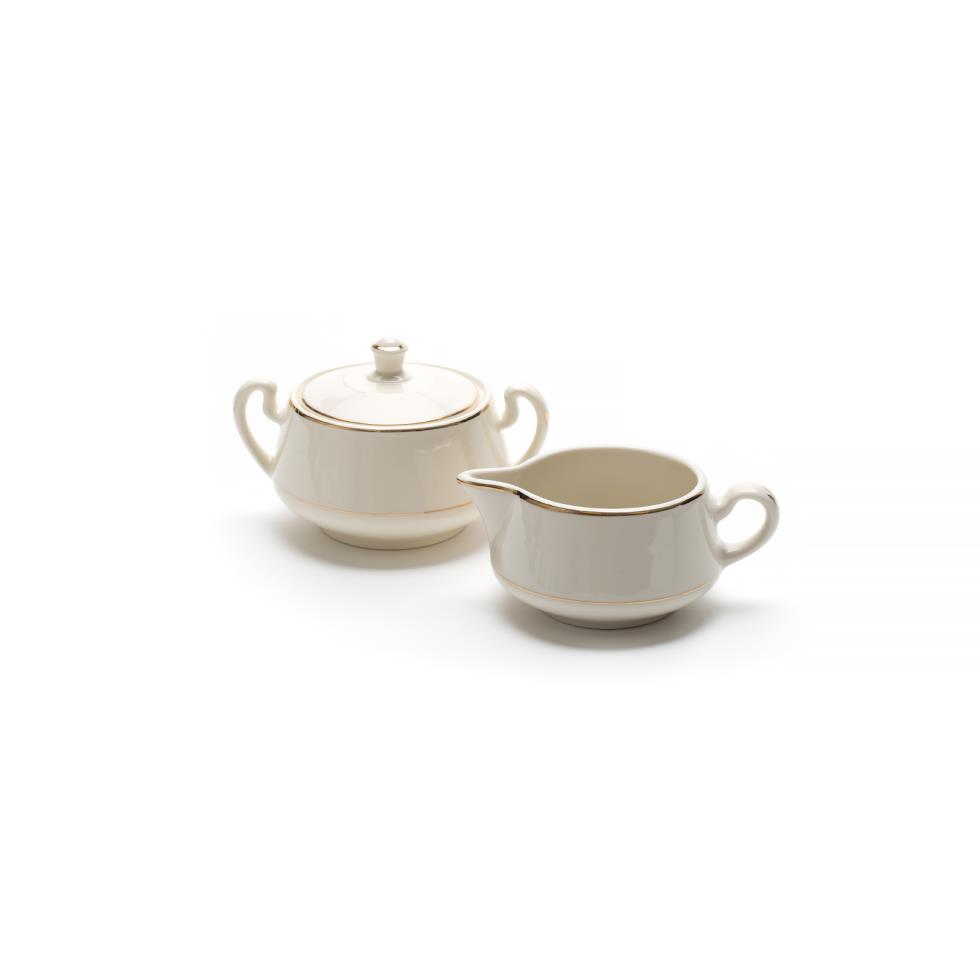 ivory-w-gold-band-creamer-sugar-set