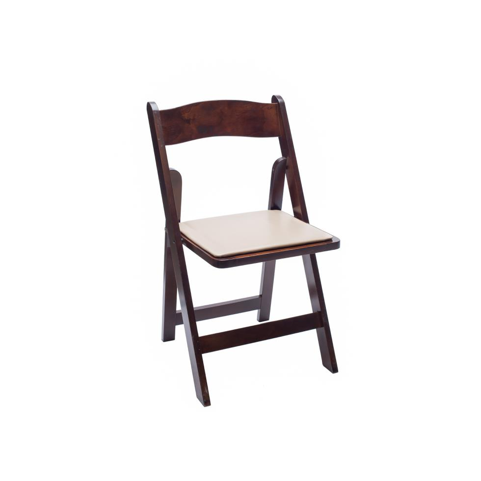 Baker Party Rentals FRUITWOOD FOLDING CHAIR Rentals
