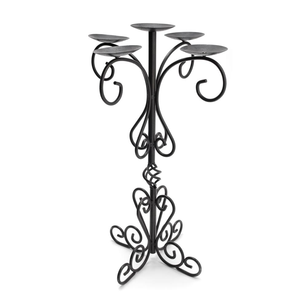 5-branch-wrought-iron-candelabra