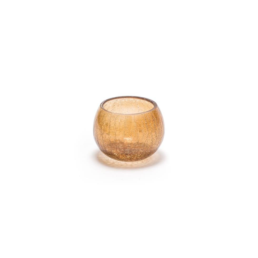 4-amber-crackle-glass-votive