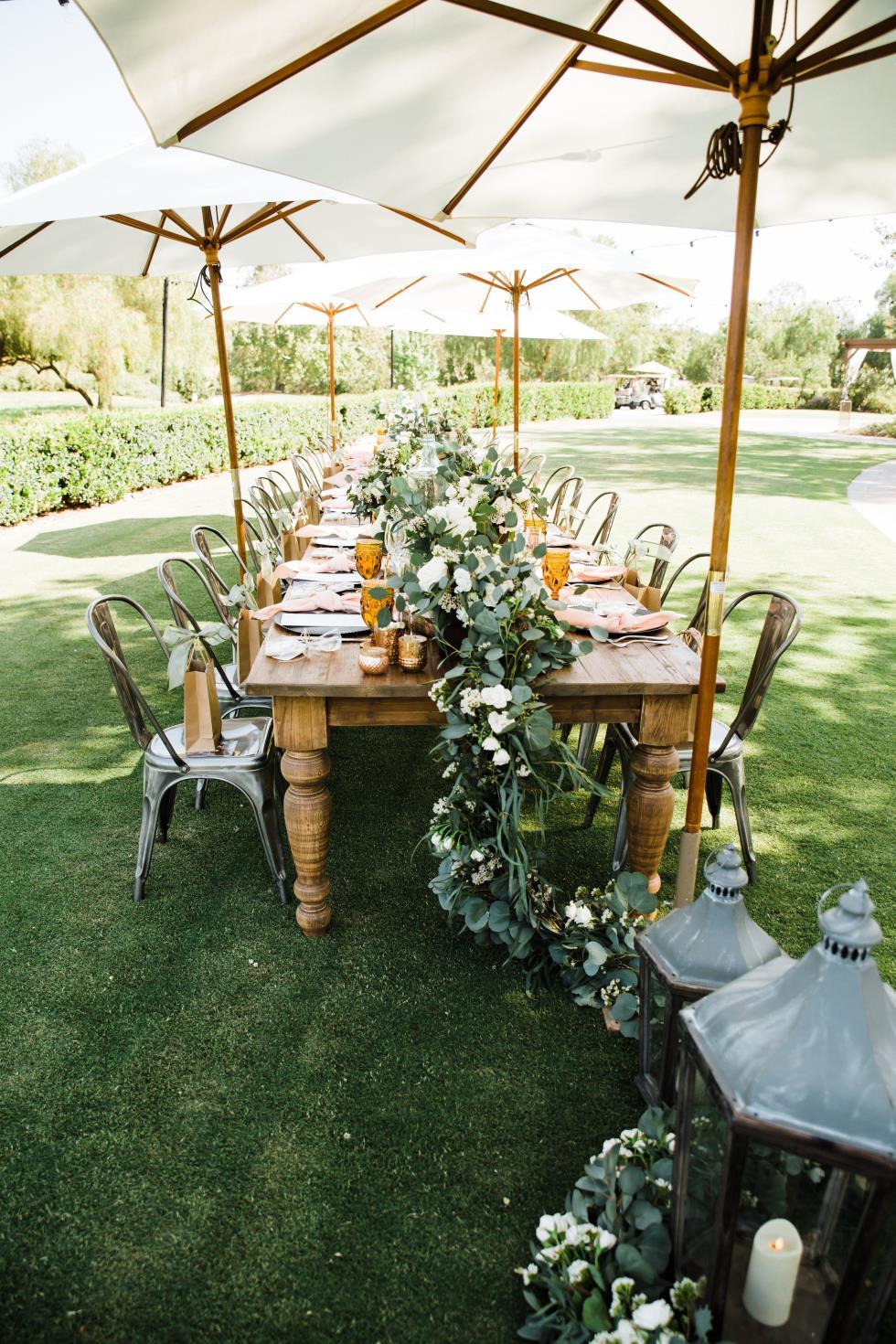 baker party rentals pine farm table 43