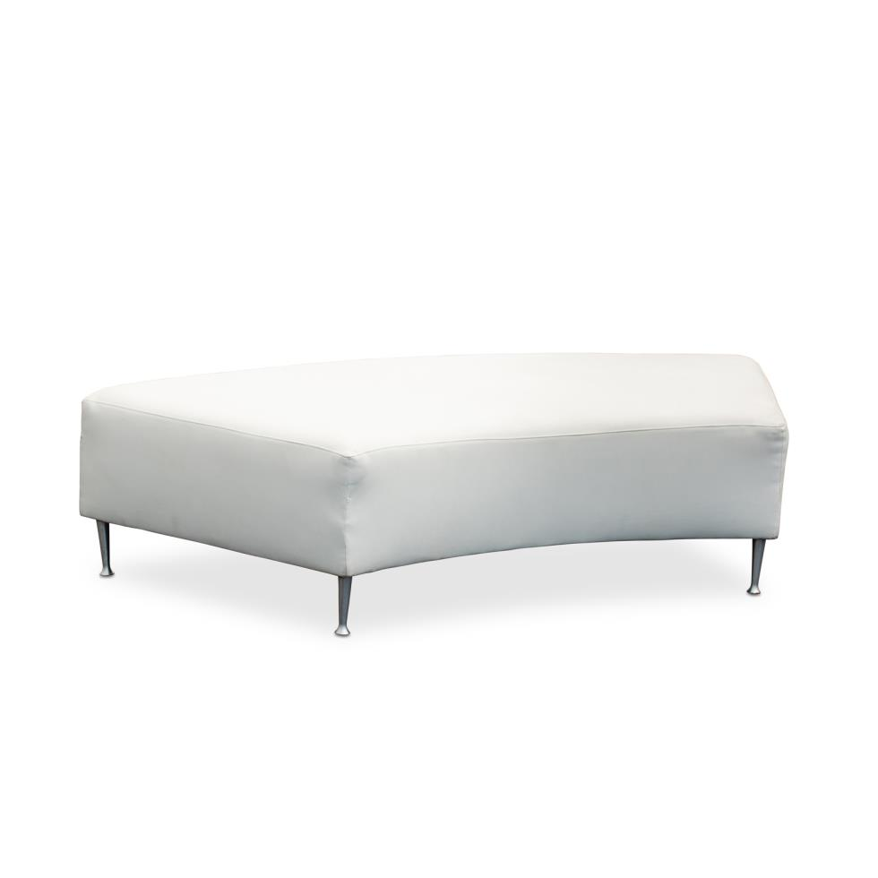 white-curved-chaise