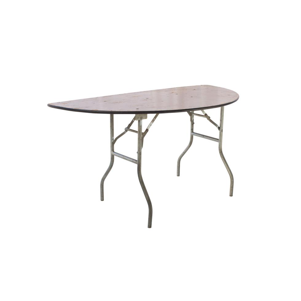 Baker party rentals 60 half round table rentals for Table rentals