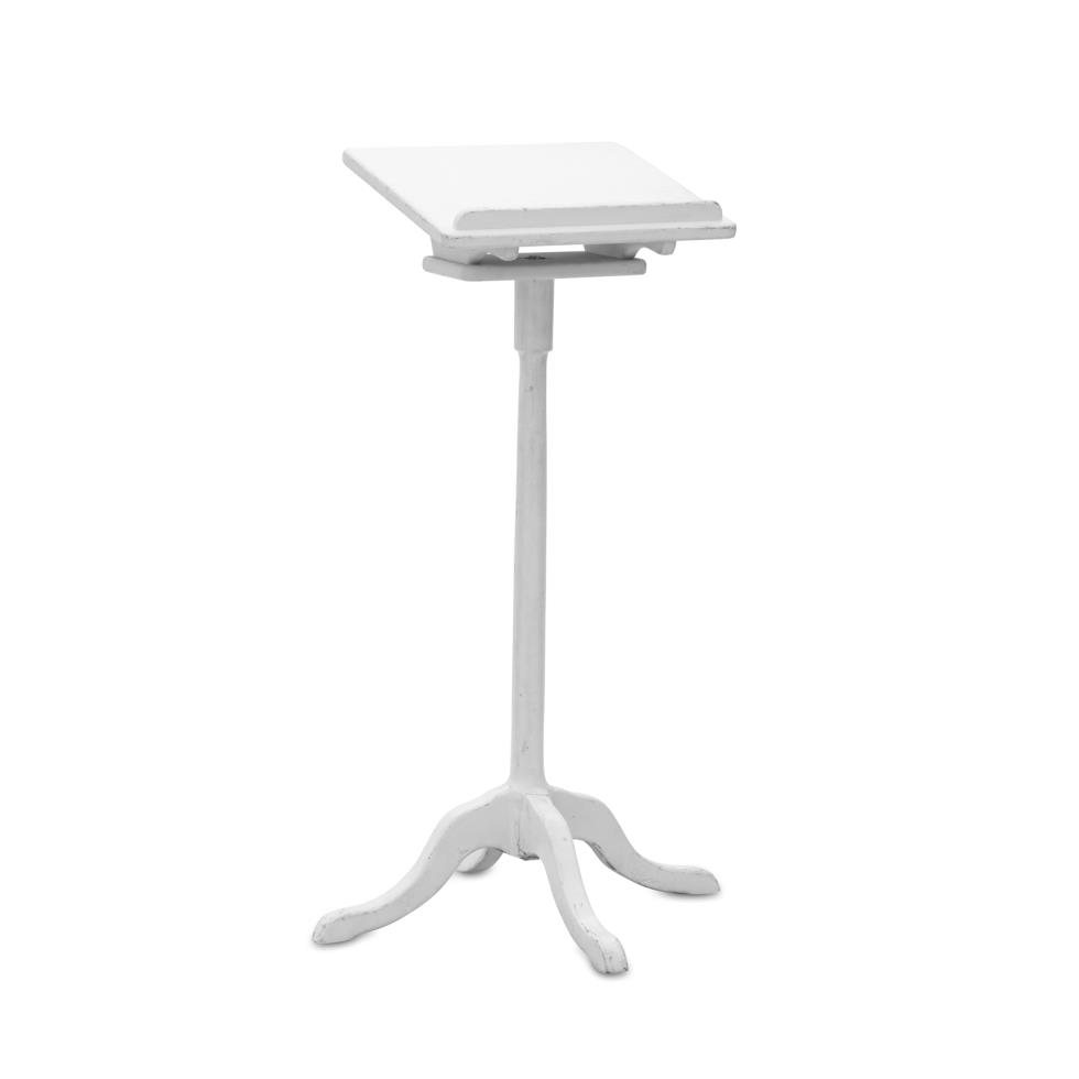 white-guest-book-stand