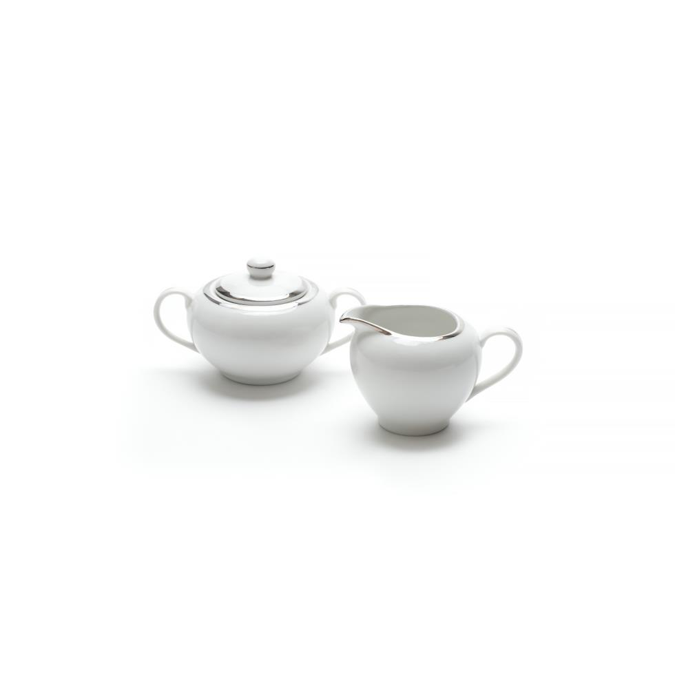 white-with-silver-band-creamer-sugar-set