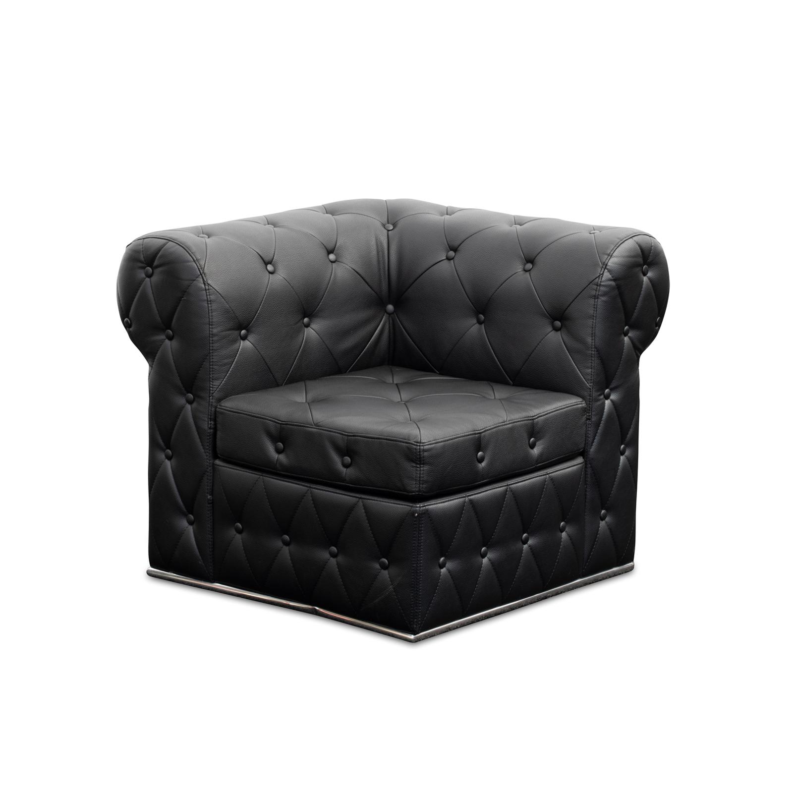 Lounge Furniture : BLACK TUFTED SOFA, CORNER | Baker Party ...