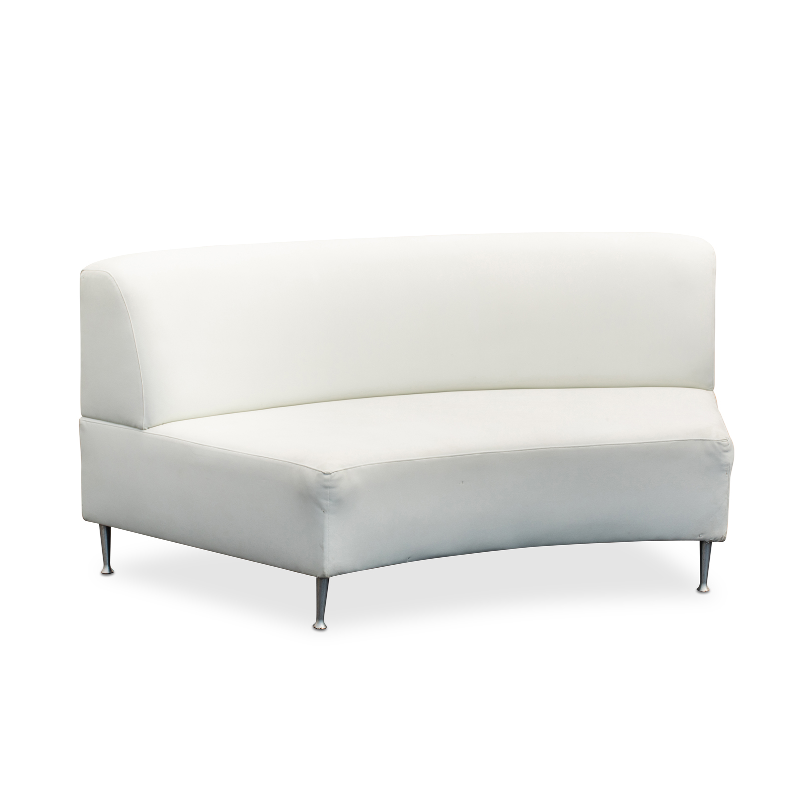 Lounge Furniture White Curved Sofa W