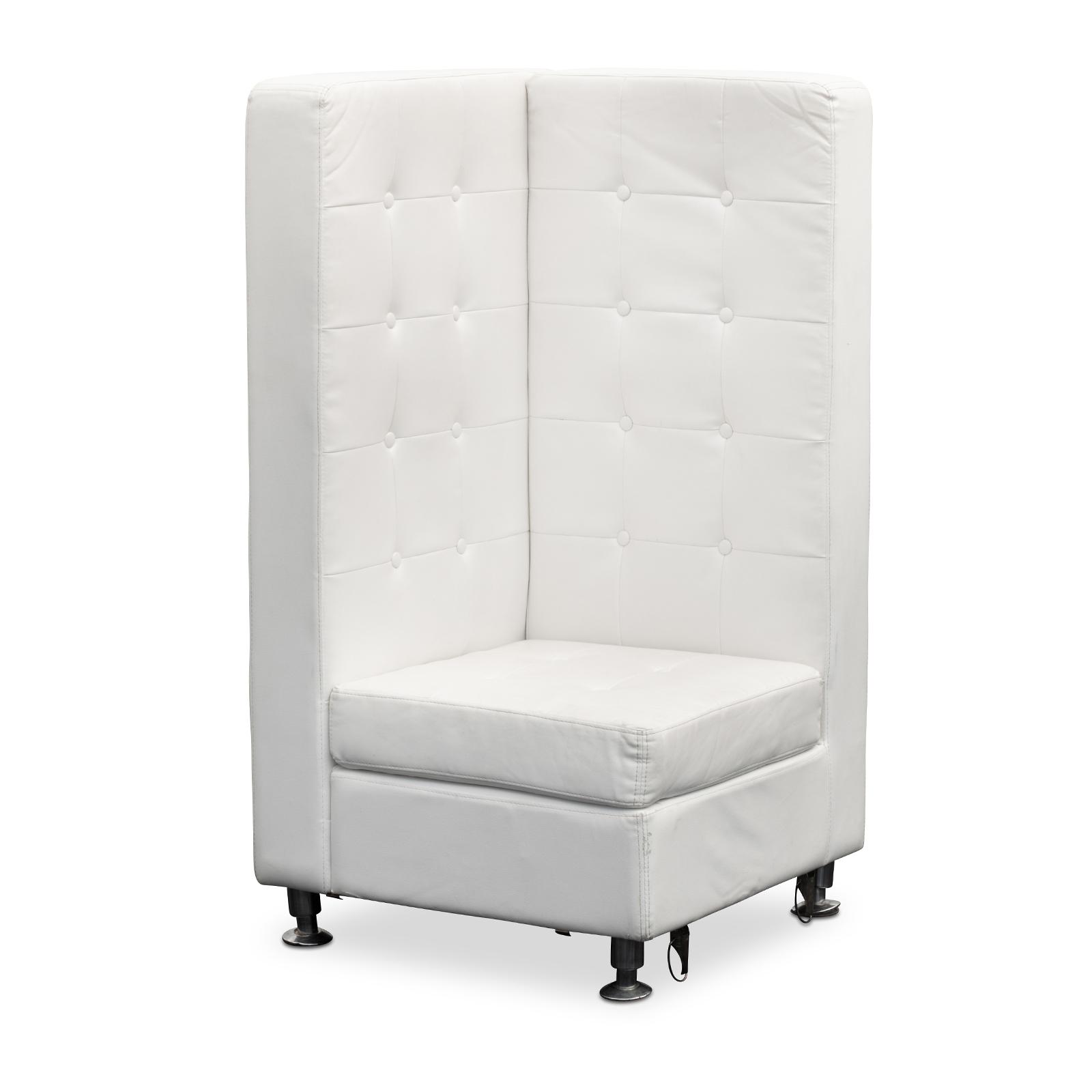 Lounge Furniture : HIGH BACK TUFTED SOFA, CORNER, WHITE ...